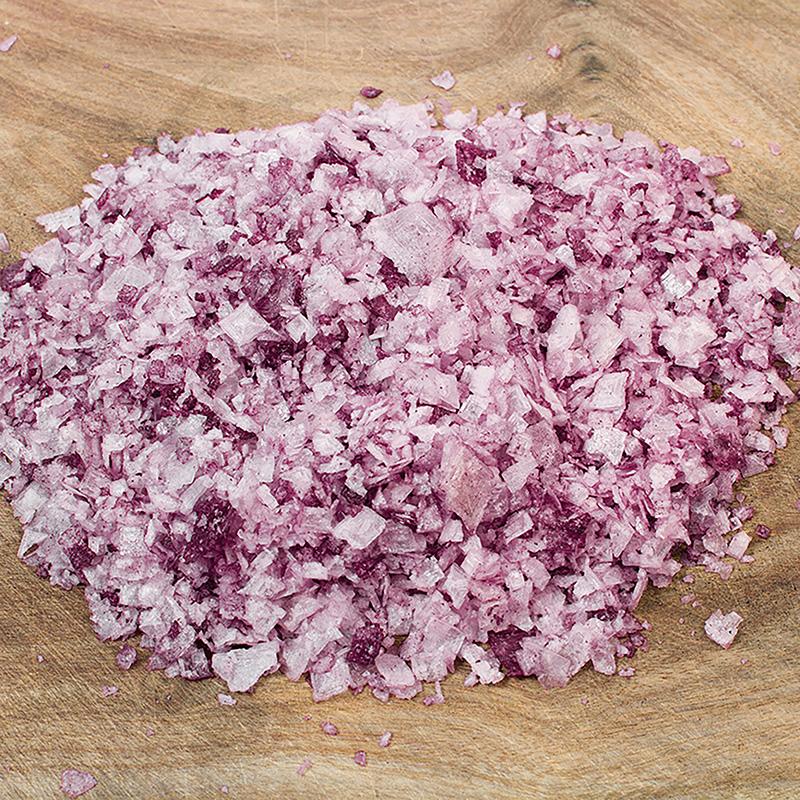 Textura de la escama de sal marina al vino tinto Matarromera sobre madera