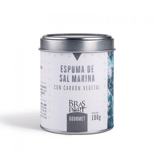 Bote de espuma de sal marina con carbón 100 g