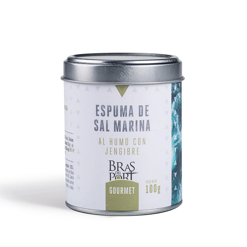 Bote de espuma de sal marina al humo con jengibre 100 g