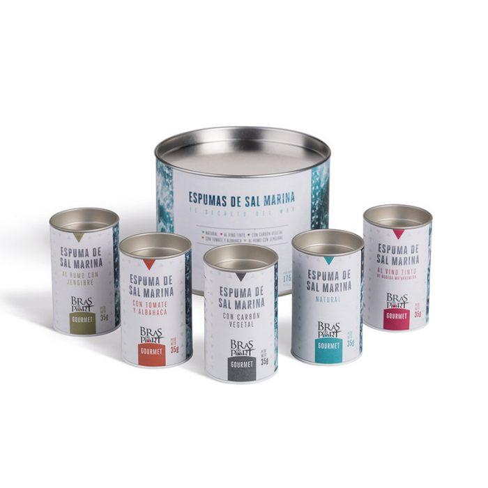 Pack 5 variedades de escama de sal marina 175 g bodegón