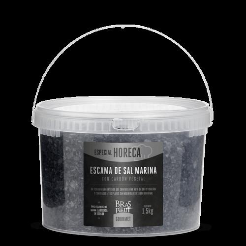 Cubo de escama de sal marina con carbón 1,5 kg