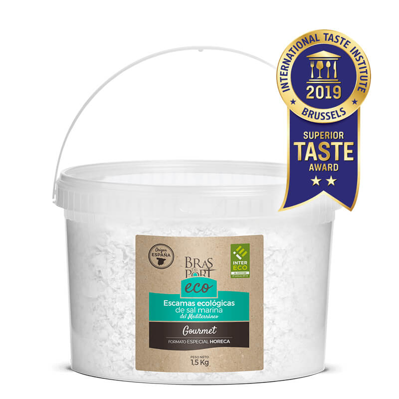 Cubo de escama de sal marina ecológica natural 1,5 kg Superior Taste Awards