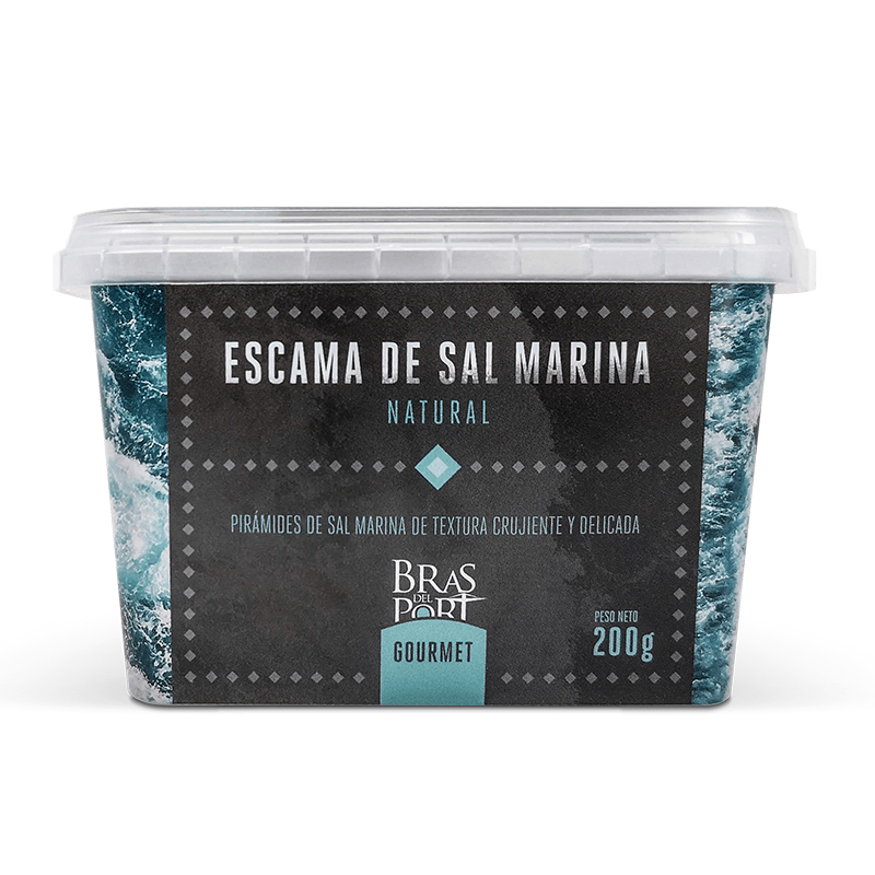 Caja de escama de sal marina natural 200 g vista frontal
