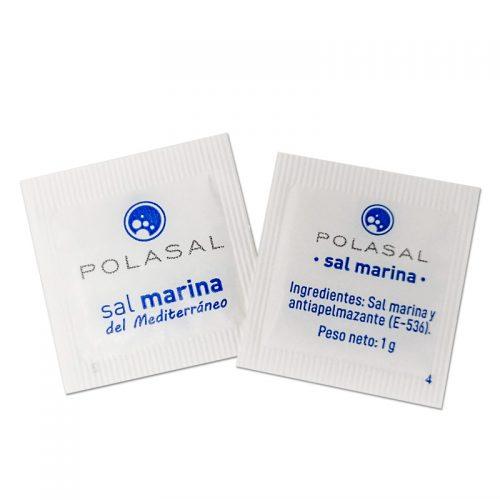 Sobres de sal marina monodosis Polasal
