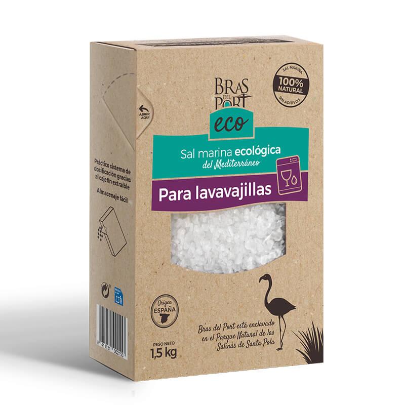 Caja de sal marina ecológica para lavavajillas 1,5 kg