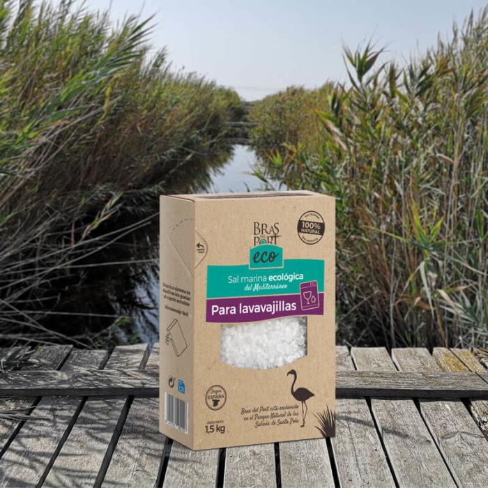 Caja de sal marina ecológica para lavavajillas 1,5 kg salinas