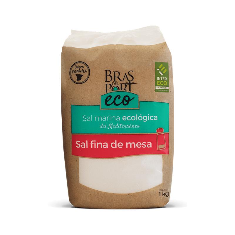 Paquete de sal marina fina ecológica INTERECO 1 kg