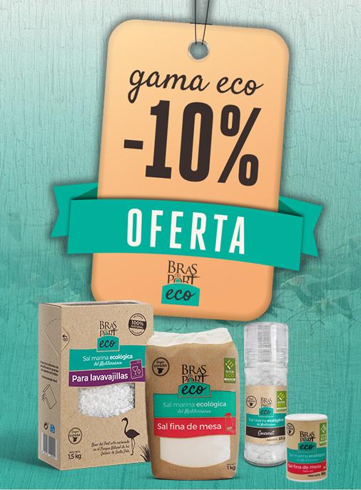 Promoción 10% dto. gama sales ecológicas