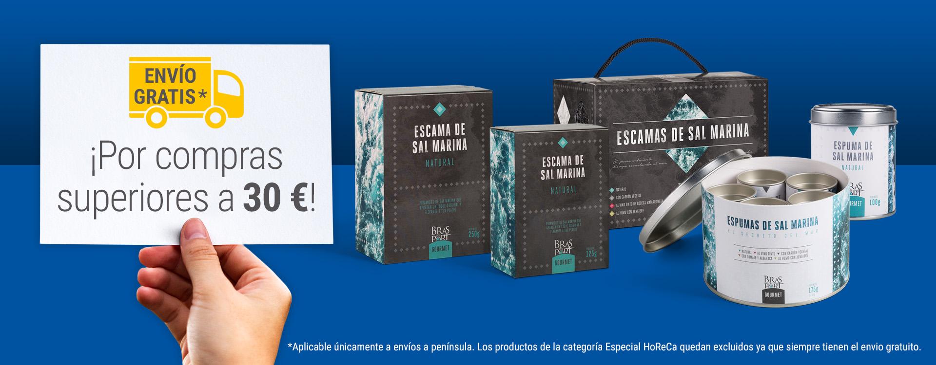 Promoción envío gratis por compras superiores a 30 €