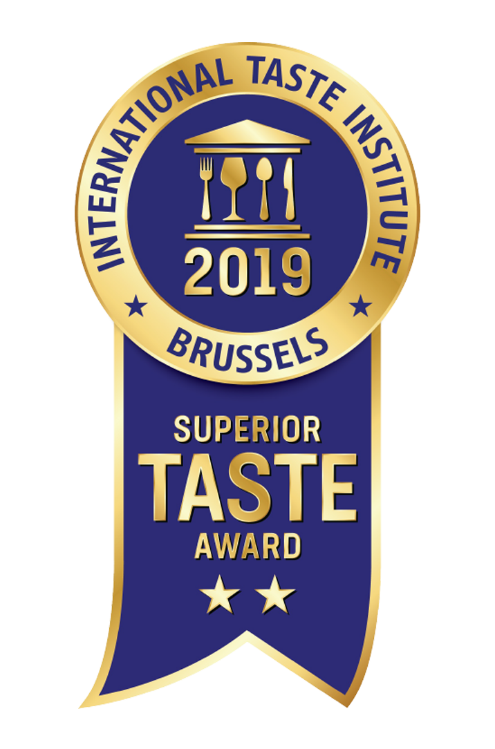 Sello 2 estrellas oro Superior Taste Awards 2019