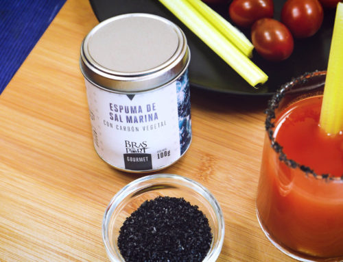 Bloody Mary with Charcoal Sea Salt Foam