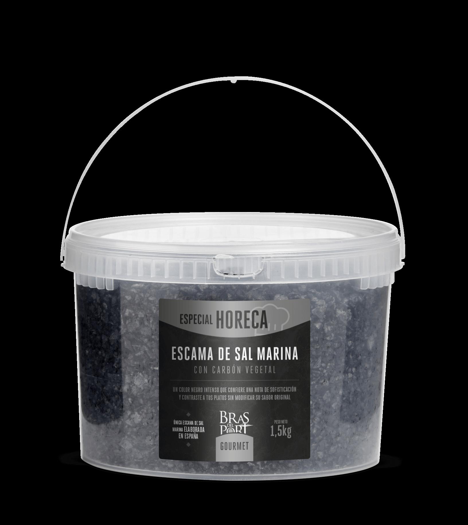 Bote de escama con carbón vegetal de 1500g