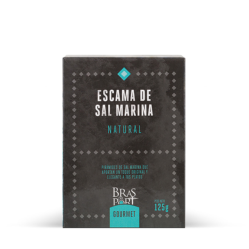 Paquete de escama natural 125 g vista frontal
