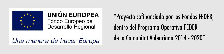 Logotipo Fondos FEDER Comunidad Valenciana