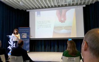 María Dolores Rey durante la presentación del grado de Gastronomía de la UA