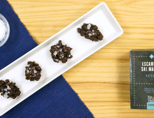 Chocolate rocks with Sea Salt Flakes