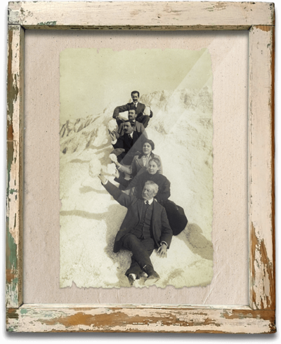 Foto antigua montañas sal Bras del Port