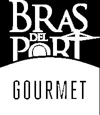 Logotipo Bras del Port Gourmet en blanco