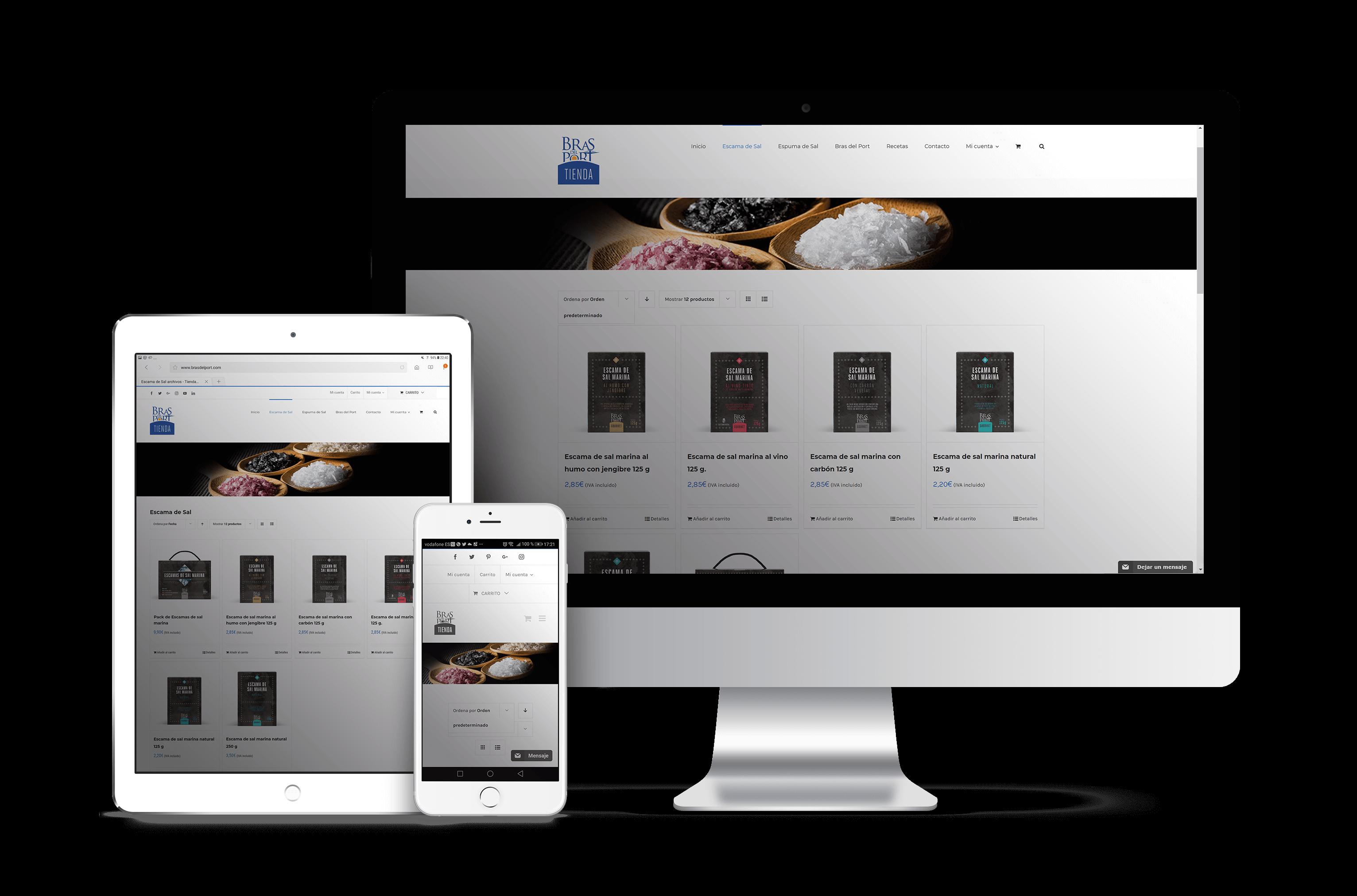 Pantallas tienda online Bras del Port